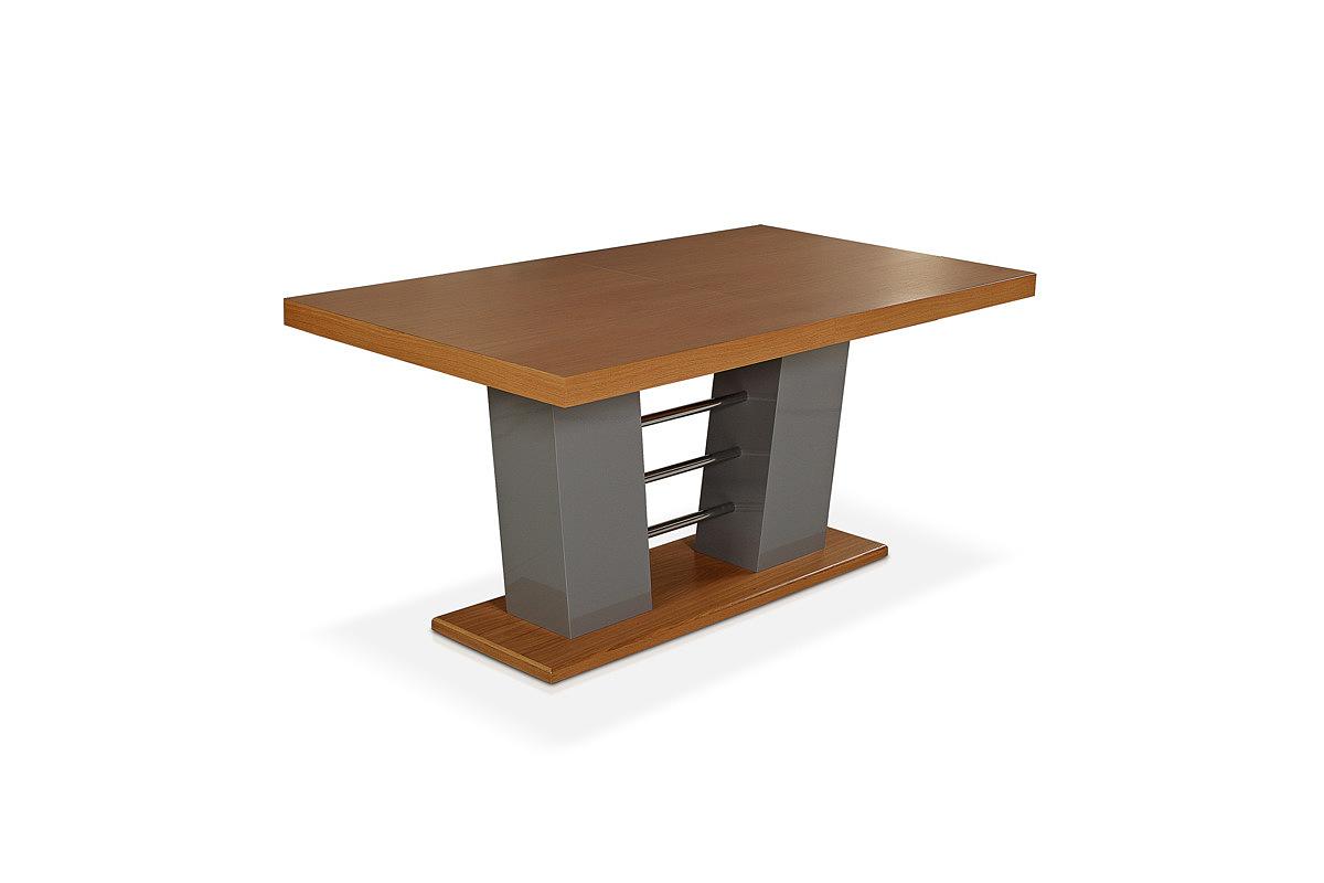Cyprian2 stół z masywną nogą w krztałcie kolumny