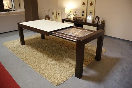 nowoczesny stół barcelona dębowy venge, orzech, szkło