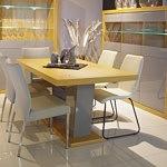 Stół dębowy z połyskiem