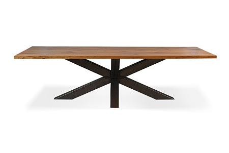 Bazalt stół industrialny w stylu fabrycznym z metalowymi nogami