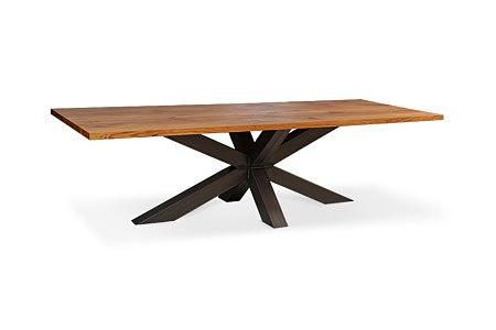 Bazalt stół na metalowych nogach w stylu industrialnym