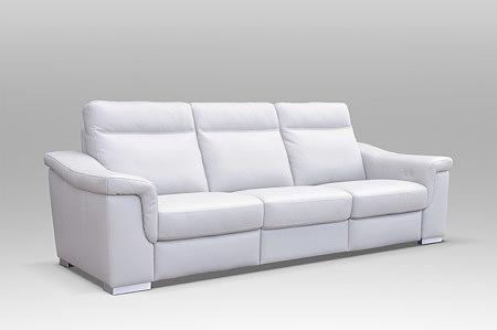 Elegancka biała sofa 3 siedziska, z trzema siedziskami, sofa klasy premium