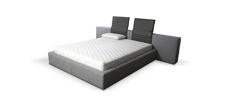 Naomi bardzo nowoczesne łóżko do sypialni z nietypowym zagłówkiem