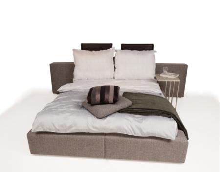 Naomi łóżko do sypialni tapicerowane tkaniną