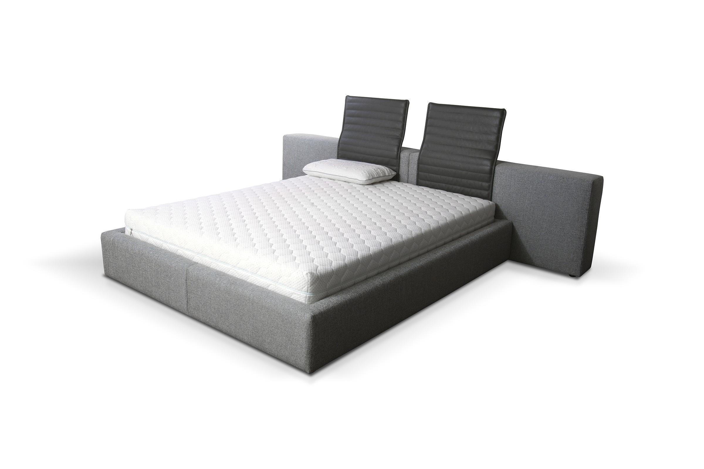 łóżko Z Półkami Tapicerowane łóżko Nowoczesne