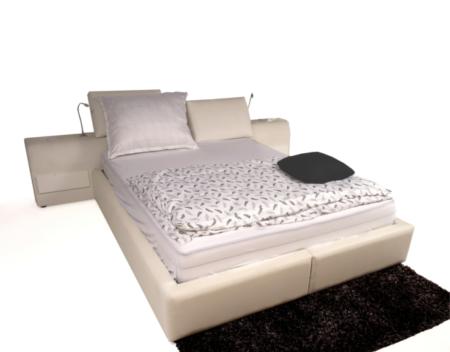Onex białe łóżko z lampkami do czytania