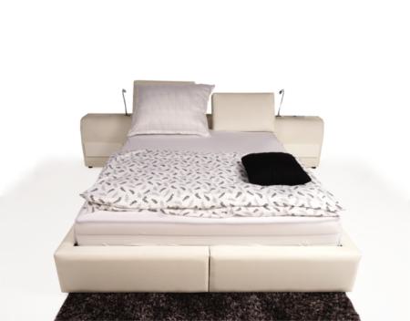Onex białe wygodne duże łóżko do sypialni
