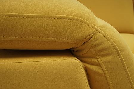 Giotto szycie poduszek oparcia sofy w kolorze żółtym