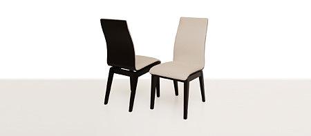 belissa dwa krzesła do jadalni i nowoczesnego salonu