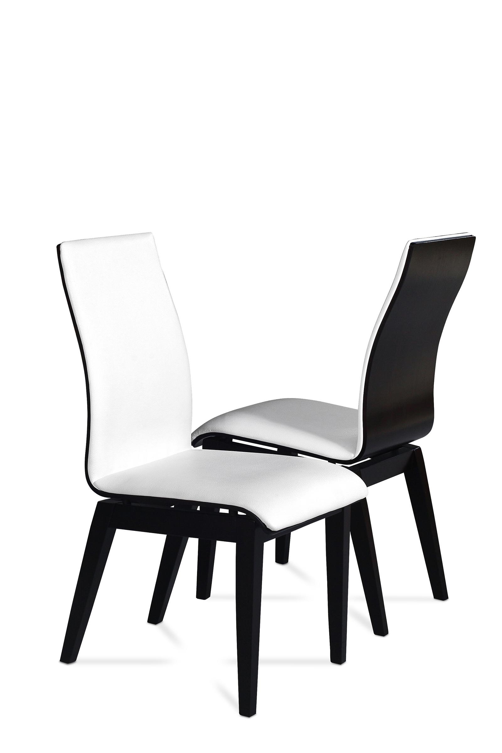 Belissa nowoczesne krzesła do jadalni białe siedzisko czarny
