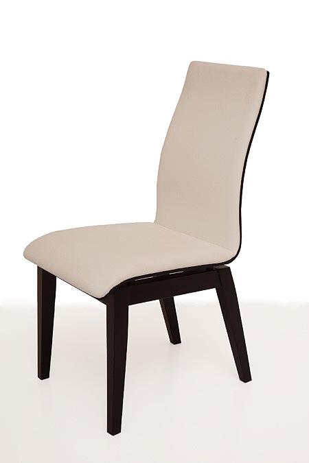 Belissa nowoczesne krzesło z białym siedziskiem i oparciem