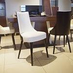 Krzeslo lethendy tapicerowane w skórze
