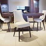 Krzesło venge biała skóra