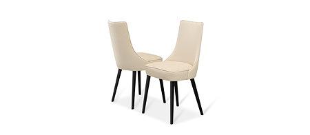 Lethendy białe krzesło do jadalni smukłe nóżki