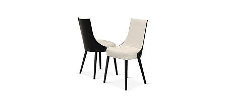 Lethendy nowoczesne krzesło białe oparcie i siedzisko tył czarny