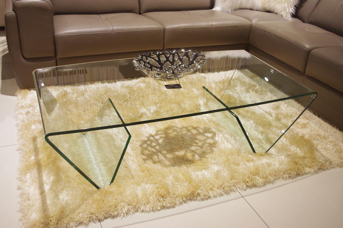 manor w pełni szklana ława przezroczysta transparentna do salonu