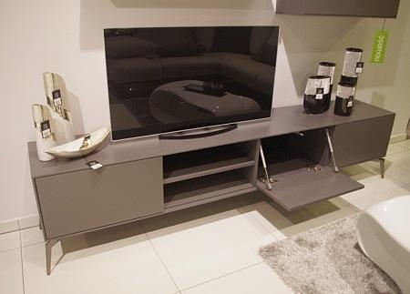 Szafka pod telewizor nowoczesna szara