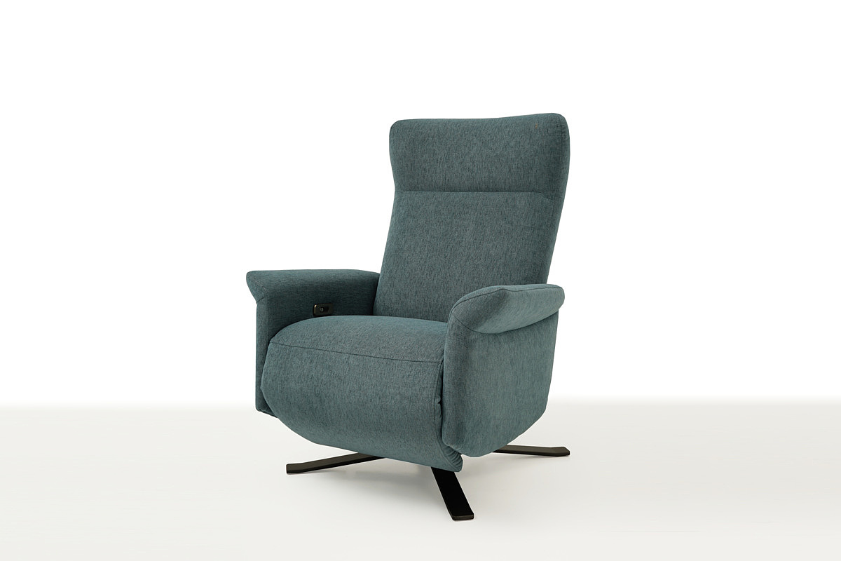 Cube elegancki fotel w kolorze morskim rozkładany z funkcją relax