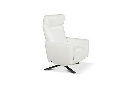 King biały nowoczesny fotel wypoczynkowy do salonu
