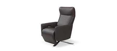 King elegancki nowoczesny fotel skórzany do salonu