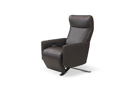 King ładny elegancki nowoczesny fotel z brązowej skóry