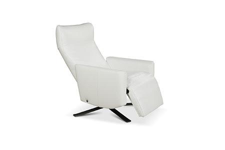 King nowoczesny fotel do salonu kolor bialy funkcja relax