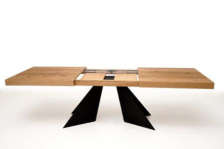 A10 stół dębowy rozkładany nowoczesny metalowe nogi z blachy