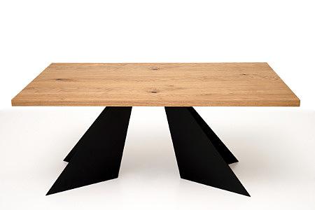 A10 stół do salonu nogi z blachy w kształcie trójkątów