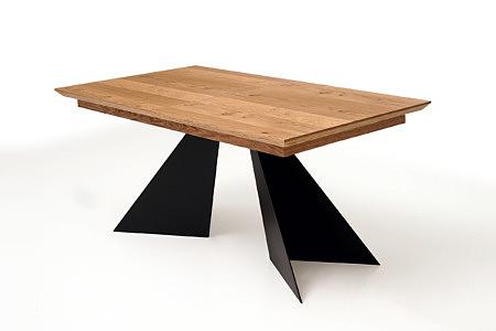 A10 stół z dębowym blatem lakier bezbarwny uwydatnia słoje drewna