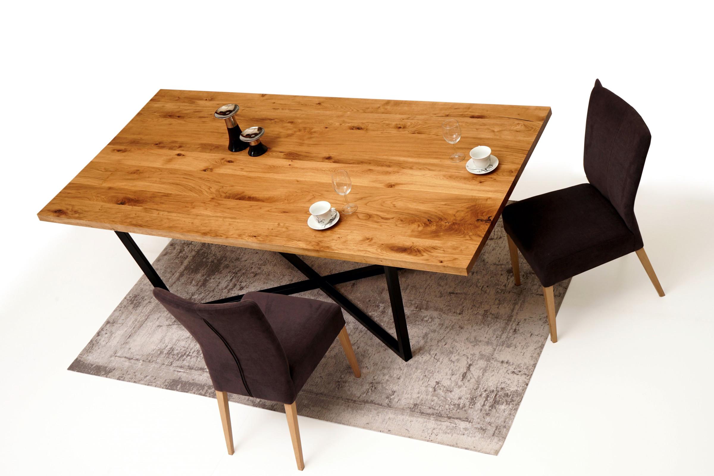 A11 Stól z nogami metalowymi do salonu Brązowe krzesła drewniane