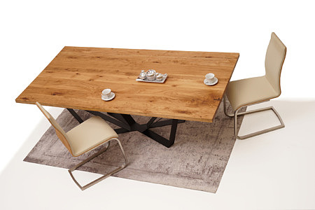 A3 aranżacja designerskiego stołu do industrialnego salonu