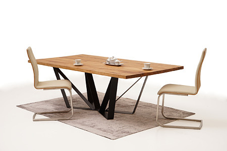 A3 aranżacja eleganckiego nowoczesnego stołu do salonu loftu