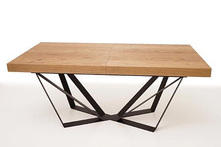 A3 ekskluzywny stół z metalowymi nogami i drewnianym blatem