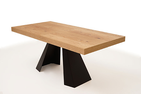 A4 stół dębowy do jadalni z grubym blatem