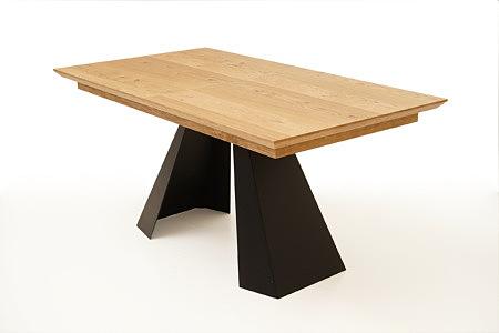 A4 stół designerski nogi ze stali czarna blacha