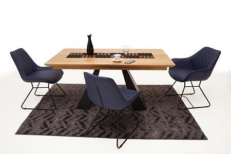 A4 stół drewniany nowoczesny design industrialne nogi