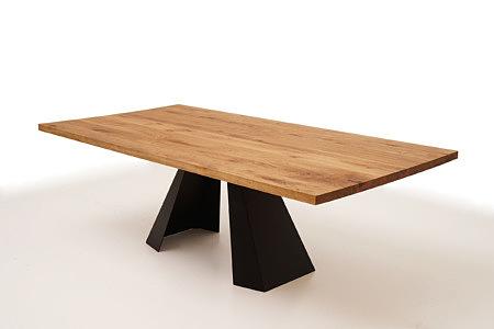 A4 stół drewniany wyjątkowy design podstawa ze stali płaskiej