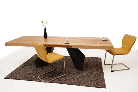 A6 designerski stół pomarańczowe krzesła z metalowymi nogami