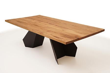 A6 designerski stół z drewnianym blatem z litego drewna