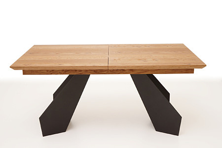 A6 stół rozkładany z blatem z litego drewna dębowego