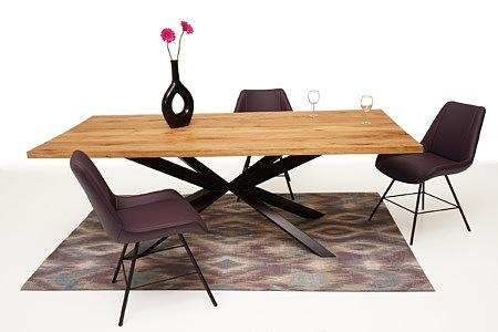 A8 aranżacja nowoczesnego salonu z dębowym stołem