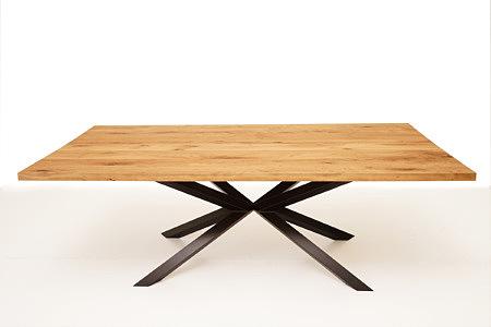A8 stół blat dębowy nogi metalowe czarne