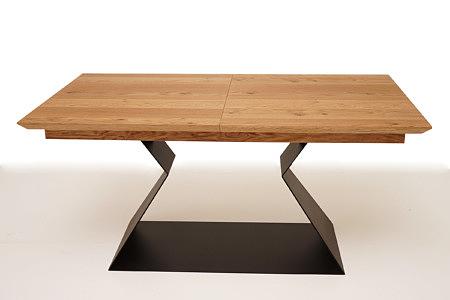 A9 stół drewniany blat designerska stopa jedna noga