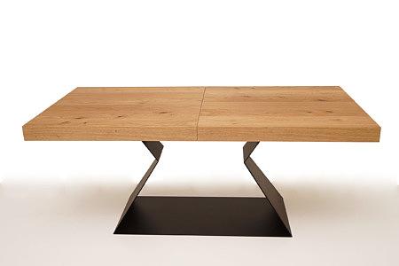 A9 stół na jednej nodze metalowej z grubym blatem