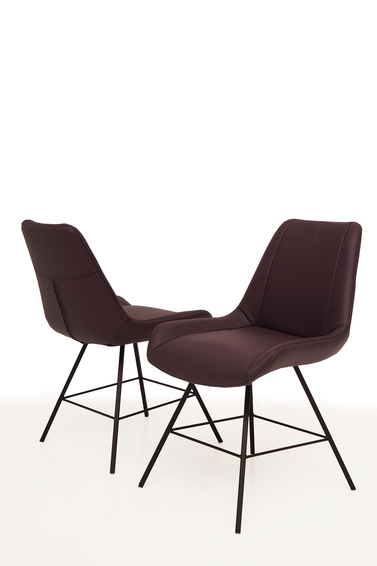 Carmen1 bardzo nowoczesne krzesła kubełkowe na stelażu metalowym