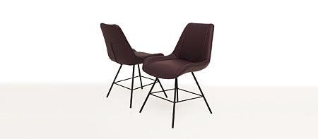 Carmen1 brązowe futurystyczne krzesło skórzane