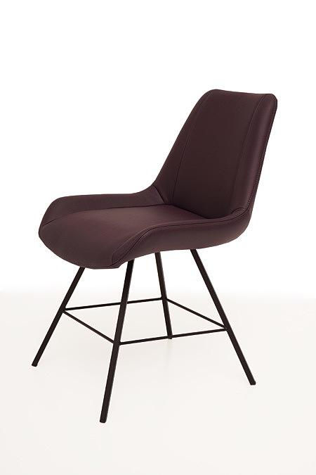 Carmen1 nowoczesne krzesło z nogami z metalowych kątowników
