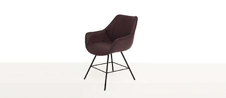 Carmen2 brązowe krzesło skórzane do jadalni salonu nowoczesne