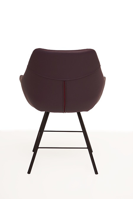 Carmen2 Krzesło tapicerowane do jadalni z nogami metalowymi
