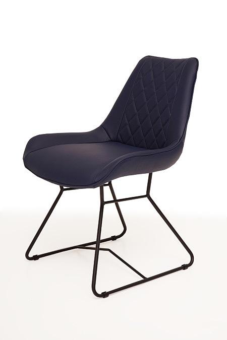 Caroline1 lekkie krzesło kubełkowe do jadalni pikowane rąby